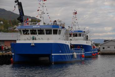 STOR INVESTERING: «Batur» og «Jolnir» er dei nyaste båtane i Alsaker-flåten. Investeringa for begge båtane er på 30 millionar kroner.